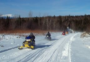 ITS Snowmobile trails offer many scenic vistas of Maine's Mount Katahdin