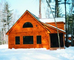 Snowmobiling cabin at New England Outdoor Center