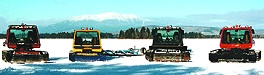 Bombardier snowmobile trail groomers near Mt Katahdin