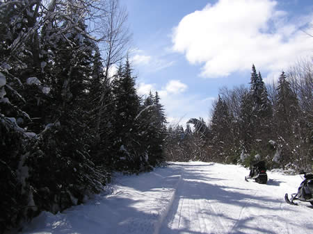 Katahdin area trail on March 2, 2010, courtesy New England Outdoor Center