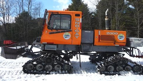 Tucker snocat snowmobile trail groomer
